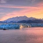 Sunrise & Hubbard Glacier — Stock fotografie