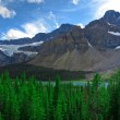 Crowfoot Glacier at Rocky Mountains — Stock Photo