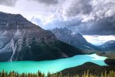 Peyto Lake & Clouds — Stock Photo