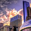 Sunset & Millenium Park — Stock Photo