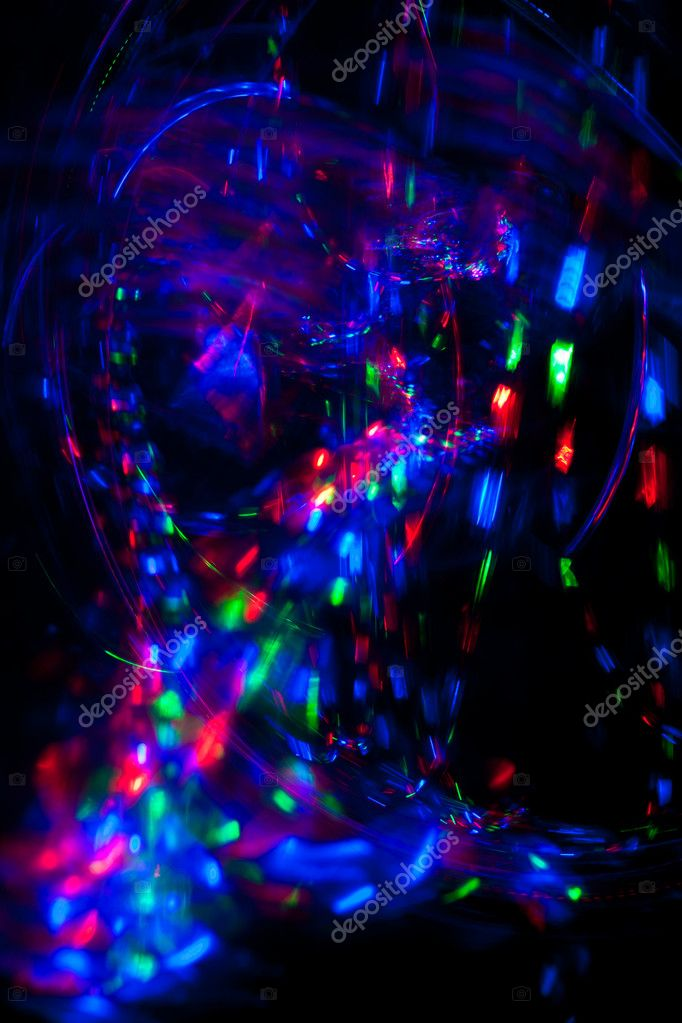 Abstract background of RGB spots of light.  Stock Photo #7856807