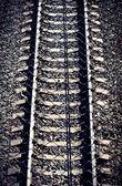 The railroad tracks — Stock Photo