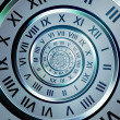 Time digits spiral — Stock Photo
