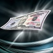 Fifty dollars banknote on abstract background — Stock Photo #7272284