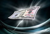 Fifty dollars banknote on abstract background — Stock Photo