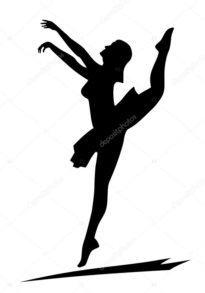 dancing girl silhouette - photo #49