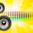 Two speakers on yellow background — Stock Photo #7787941