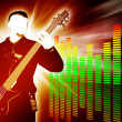 Guitarist silhouette on abstract background — Stock Photo #7853863