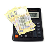 Para iş finans nakit kazanç istif — Stok fotoğraf