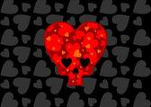 Heart skull — 图库矢量图片