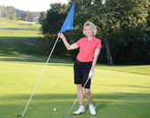 Woman Golfer — Stockfoto