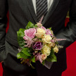 Stock Photo: Wedding bouquet in hands of groom