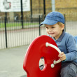 Small boy on the playground — Stock Photo