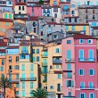 Stock Photo: Colorful houses in Provence village Menton