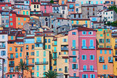 Colorful houses in Provence village Menton — Stock Photo