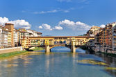 Florence Ponte vecchio river view — Stock Photo