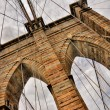 Stock Photo: Brooklyn bridge detail