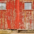 Red old barn with one window — Stock Photo #7138695