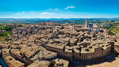 Siena panorama view from Torre Mangia tower — Stock Photo
