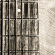 Guitar neck fingerboard on textured background — 图库照片