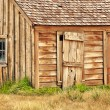 Stock Photo: Old wooden barn in Bodie village