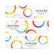 Circles vector header - Stock Vector