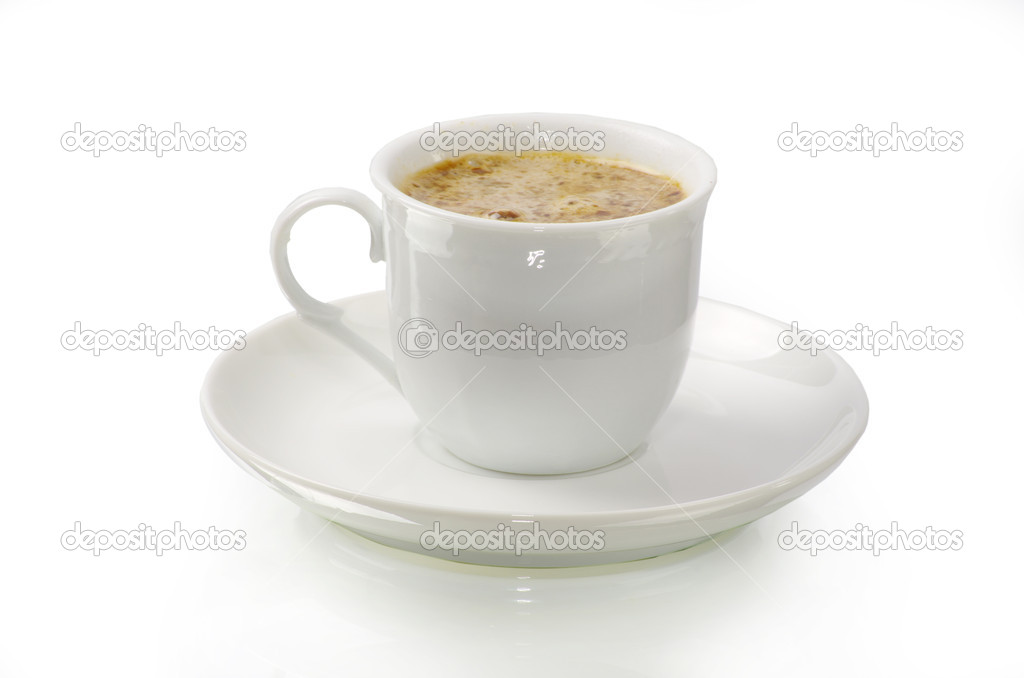Coffee cup on white background — Stock Photo #7182277