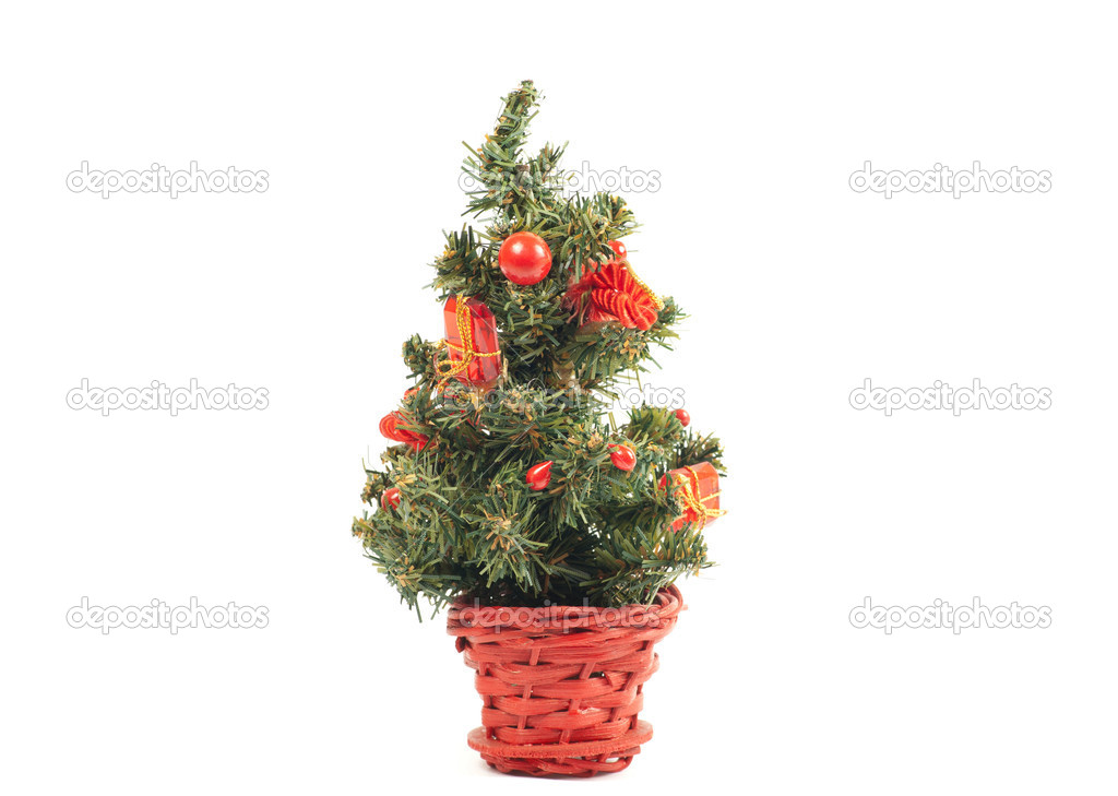 Christmas tree isolated on white — Stock Photo #7382811
