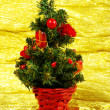 Royalty-Free Stock Photo: Little decorated christmas tree with gifts