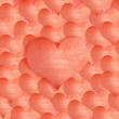 Background made of red heart stickers - Stock Photo