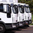 Trucks in row — Stock Photo