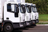 Trucks in row — Stockfoto