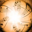 Music notes - Stockfoto
