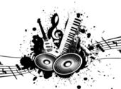 Grunge Music — Stock Photo