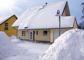 House in the winter — Stock Photo