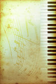 Old piano paper — Stock Photo