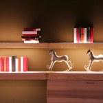 Book shelf — Stock Photo