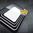 RFID tag — Stock fotografie