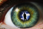 Eye with man — Stock Photo