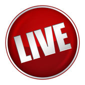 Live Button — Stock Photo