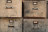 Old filing cabinet — Stock Photo