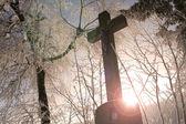 Winter Cross — Stock Photo
