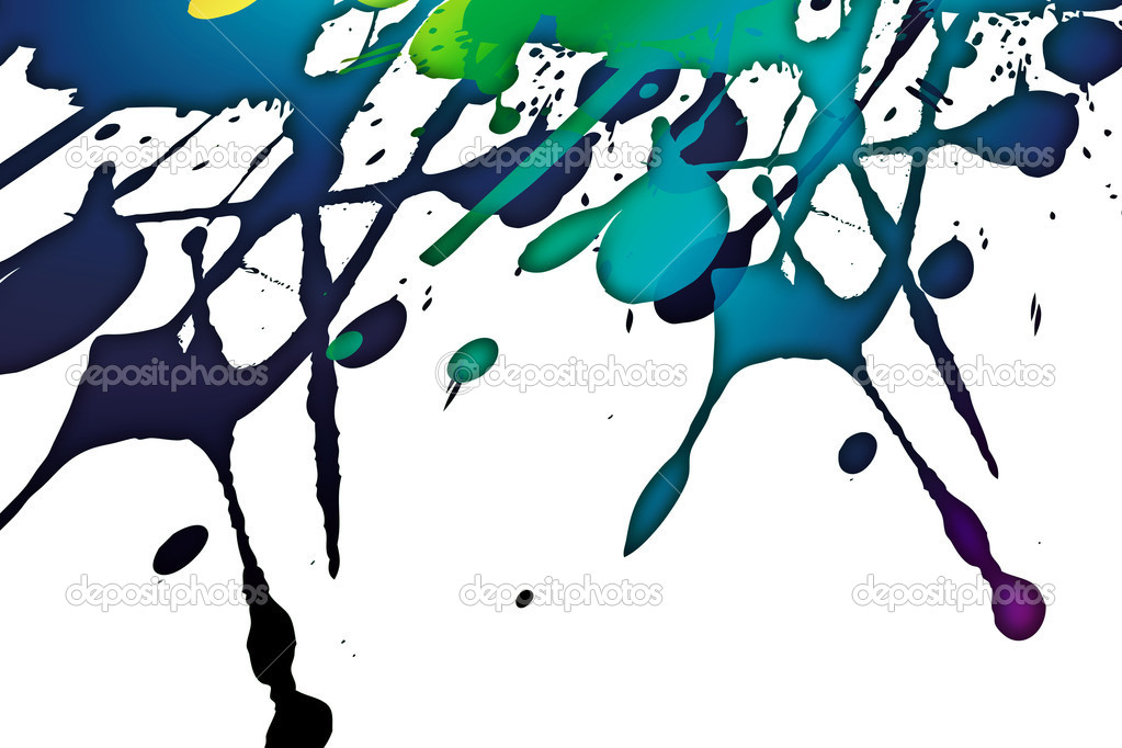 Modern art with colored splashes on the paper — Stock Photo #7159073