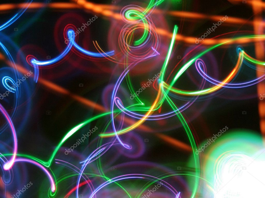 Wonderful colored lights in motion  Stock Photo #7189227