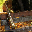 Royalty-Free Stock Photo: Old grungy saxophone