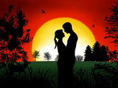 Couple in Romance — Stock Photo
