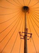 палатка внутри — Стоковое фото