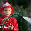 Little fire man — Stock Photo