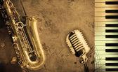 špinavé hudební pozadí — Stock fotografie
