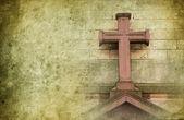 Oude stenen cross — Stockfoto